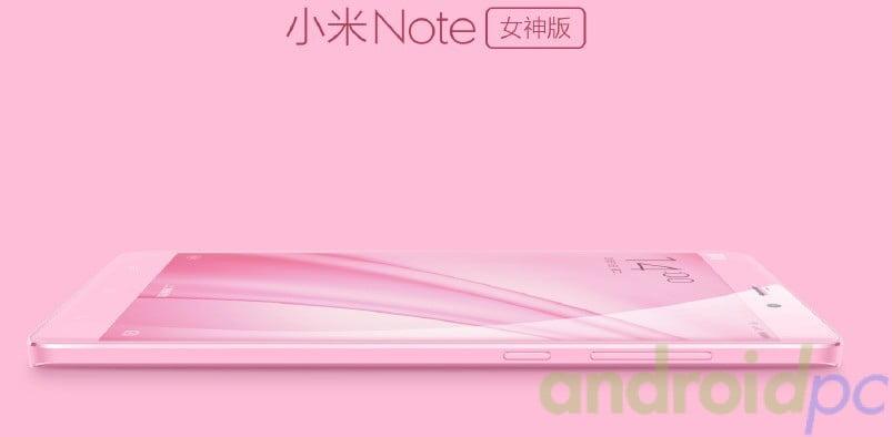 Xiaomi Note rosa