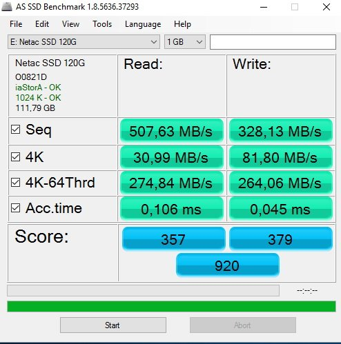 A SSD NETAC N5M 120GB