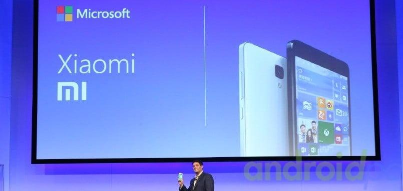 MIcrosoft Windows 10 Xiaomi mi4 Smartphone