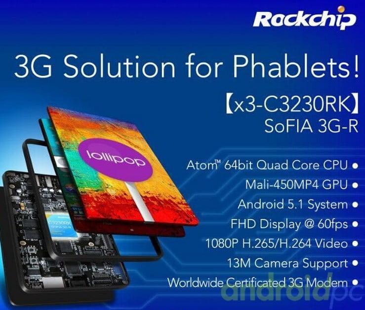 SOFIA 3G X3-C3230RK Rockchip