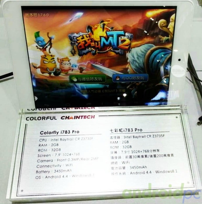 Colorfly i783 pro Dual OS
