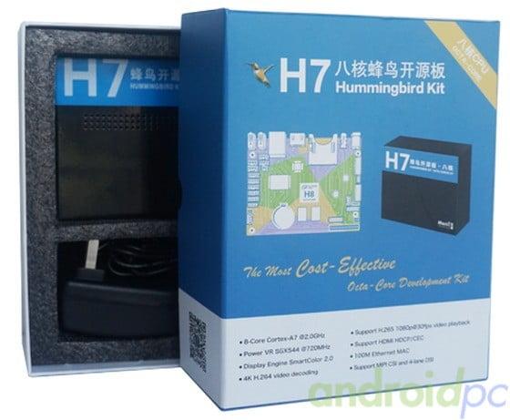 H7 Hummingbird Allwinner H8 Octa Core