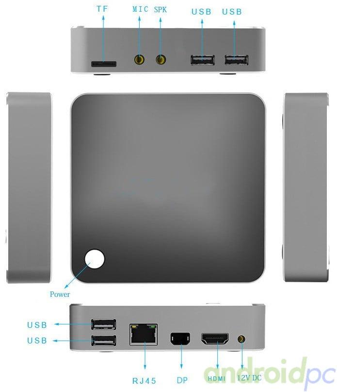 Vensmile w10 miniPC fanless Intel