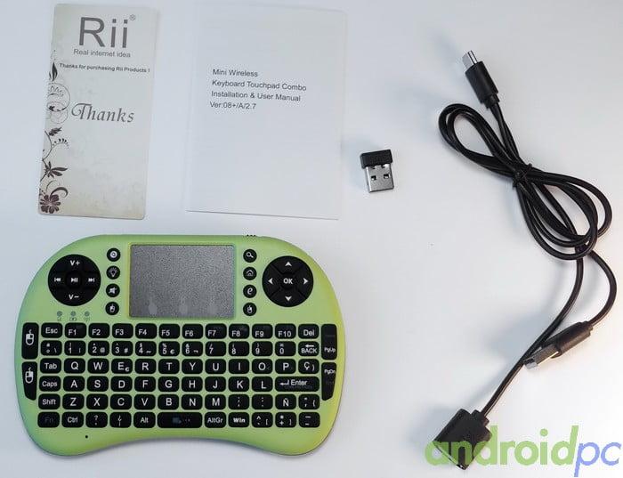 Rii mini i8+ Back Unboxing