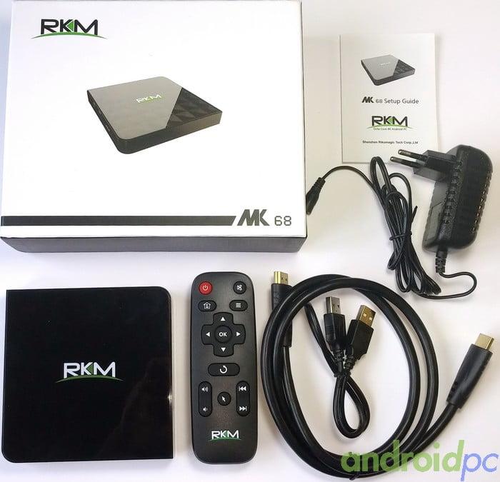 RKM MK68 RK3368 Unbox