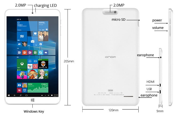 Onda 820w Ch Windows 10