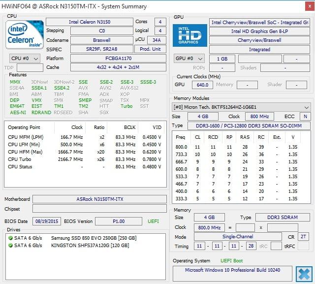 ASROCK N3150TM-ITX hw