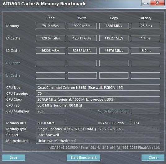 ASROCK N3150TM-ITX memoria