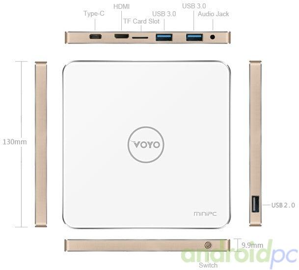 VOYO V3 miniPC Atom X7 Z8700