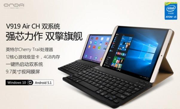 Onda v919 Air CH Dual OS intel