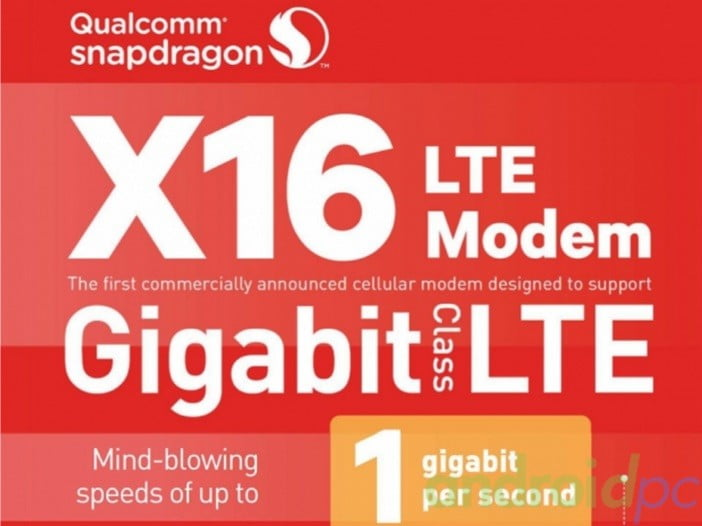 qualcomm modem x16 LTE