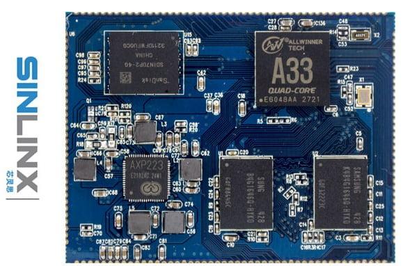 Sinlinx SIN-A33 Plus Allwinner A33 PCB