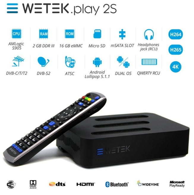 Wetek Play S2 S905-h