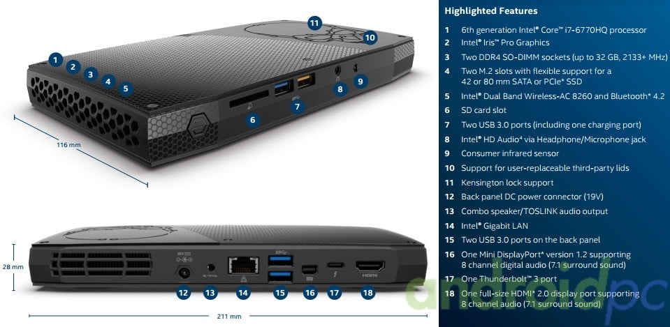 intel nuc skull Skull Canyon n01