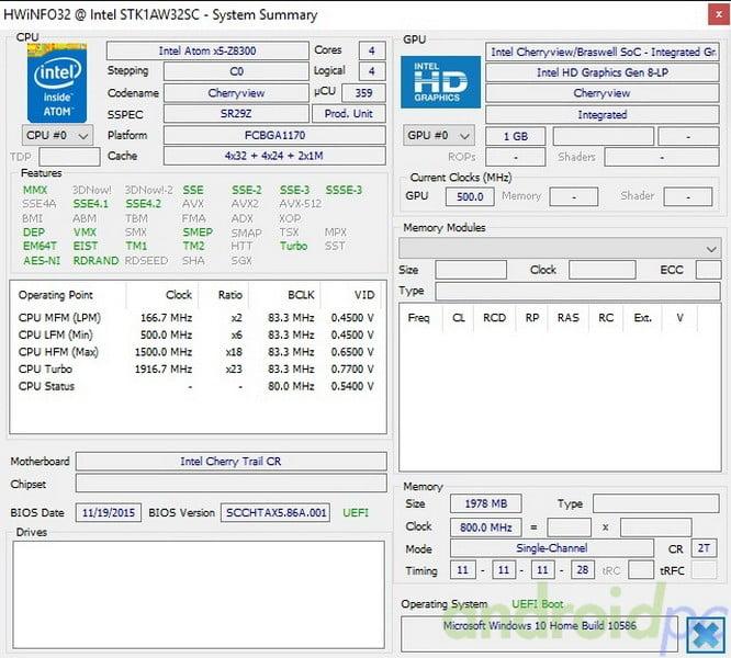 Intel compute stick STK1AW32SC review hw1