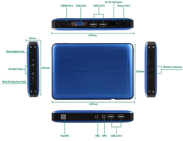 K600 miniPC intel
