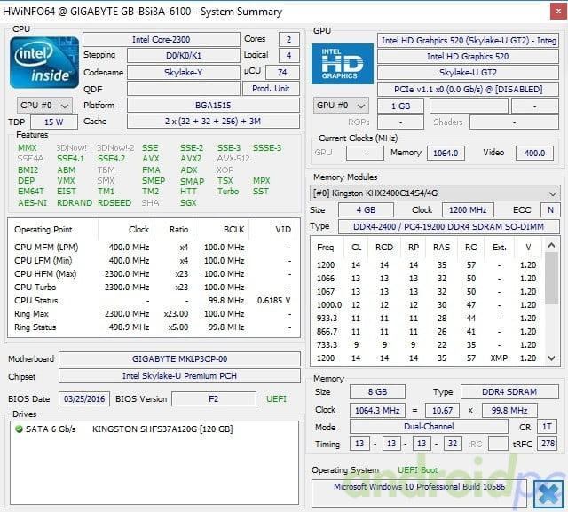 Gigabyte brix s core i3-6100U review sys1