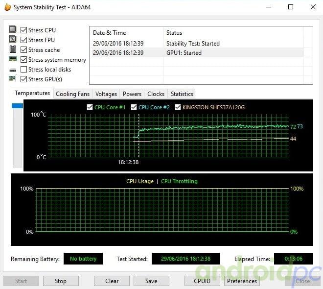 Hystou FMP03 test temp
