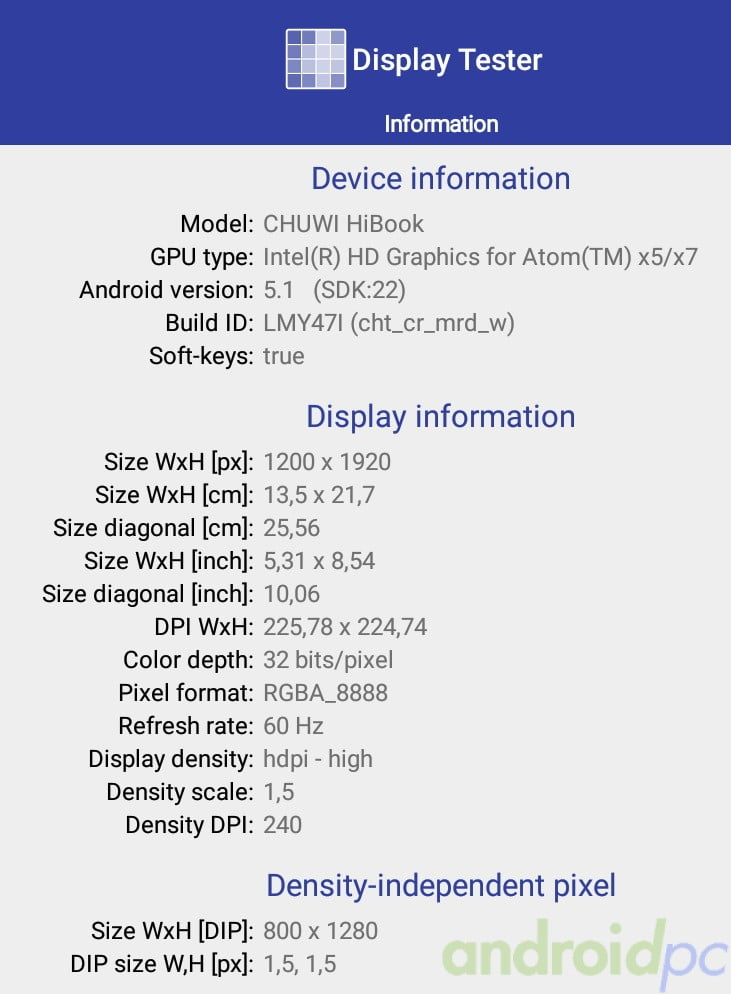 chuwi hibook review android n014