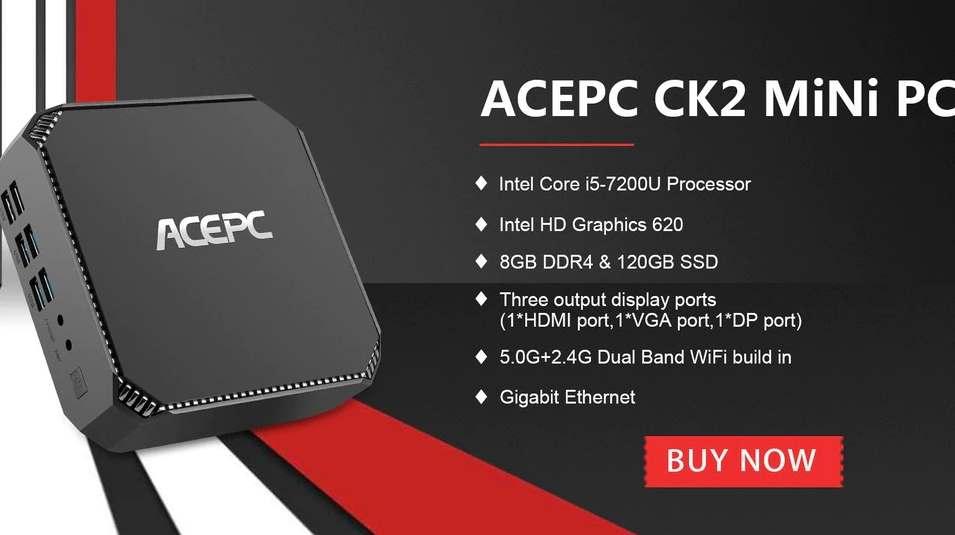 ACEPC CK2 Mini PC Intel Core i5-7200U - ActiveTech
